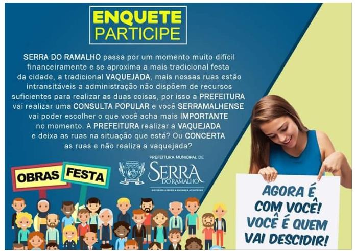 Enquete Serra do Ramalho