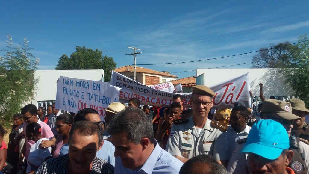 Protesto contra precariedade da BA 160