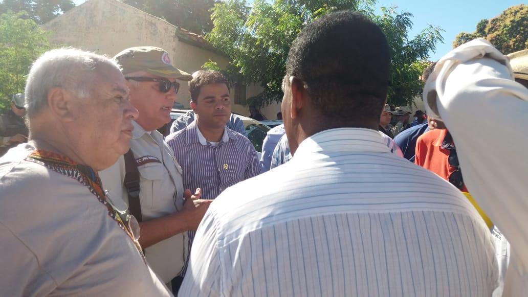 Rui Costa em Bom Jesus da Lapa: autoridades conversam sobre acesso de manifestantes