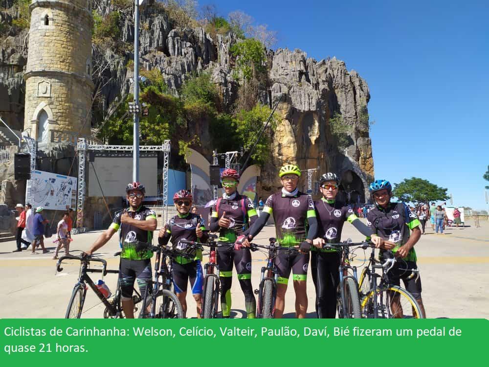 06 ciclistas do Grupo Amigos da Bike de Carinhanha estiveram em Bom Jesus da Lapa